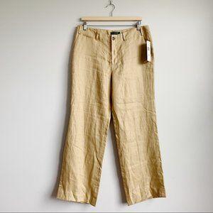 Lauren Ralph Lauren Wide Leg Linen Pants New 12P